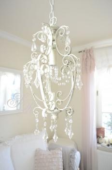 kronleuchter wei rosen. Black Bedroom Furniture Sets. Home Design Ideas