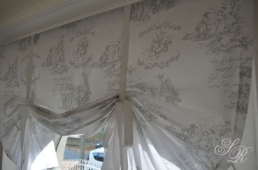 shabby rose onlineshop toile de jouy gardine. Black Bedroom Furniture Sets. Home Design Ideas