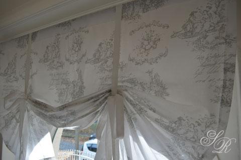 shabby rose onlineshop toile de jouy gardine landhausgardine schwedische gardinen gardinen. Black Bedroom Furniture Sets. Home Design Ideas