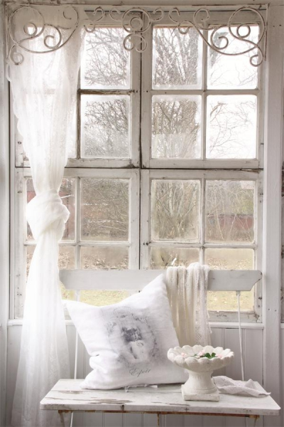 fenster frieze shabby chic fensterdekoration nostalgie landhausstil ebay. Black Bedroom Furniture Sets. Home Design Ideas