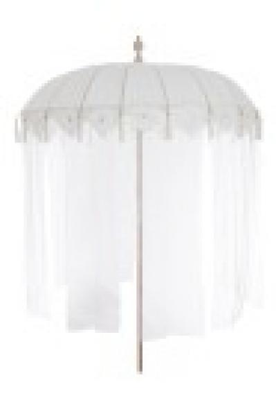 boho sonnenschirm stoff white cream bohemian style gardenliving schirm ebay. Black Bedroom Furniture Sets. Home Design Ideas