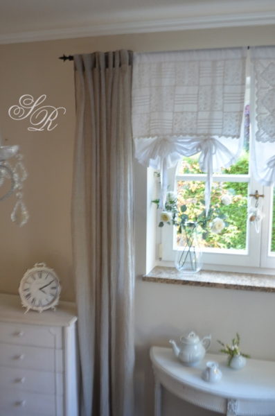 voile donna taupe shabbyschal gardinenschal. Black Bedroom Furniture Sets. Home Design Ideas