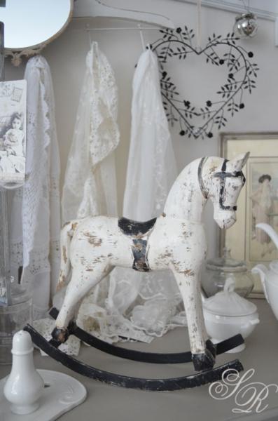 schaukelpferd im vintagelook, mittel, shabby chic pferd,