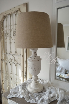 Shabby Rose Onlineshop - Lampe-Shabby-Chic-Holz-Lampe Leinen ...