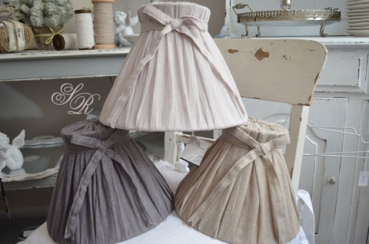 shabby rose onlineshop lampen lene bjerre lampenschirm leinen shabby chic lampe. Black Bedroom Furniture Sets. Home Design Ideas