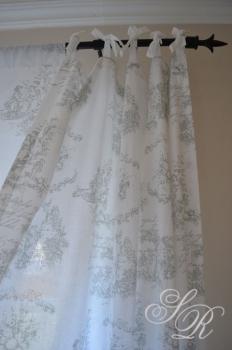 shabby rose onlineshop toile de jouy gardine. Black Bedroom Furniture Sets. Home Design Ideas