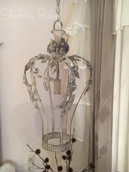 Van Deurs* Franz. Lüster Mit Blüten, Antik Finish Cremewhite, H 53cm