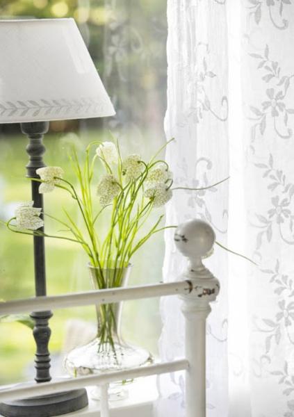 shabby rose onlineshop lene bjerre voile gardinen gardine maddie shabby chic organza gardine. Black Bedroom Furniture Sets. Home Design Ideas