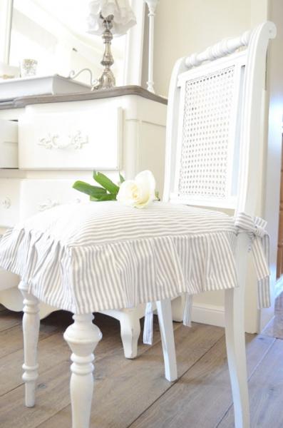 shabby rose onlineshop stuhlkissenbezug stuhlkissenbezug shabby chic stuhlkissenbezug gestreift. Black Bedroom Furniture Sets. Home Design Ideas