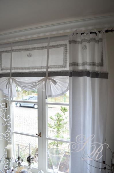 shabby rose onlineshop schwedische gardinen bestickte gardinen monogramm shabby chic. Black Bedroom Furniture Sets. Home Design Ideas