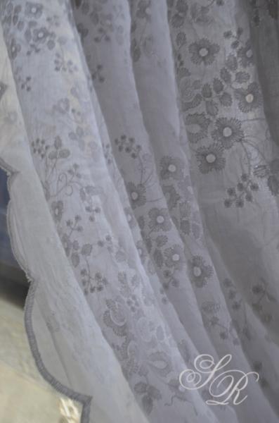 shabby rose onlineshop lene bjerre voile landhausgardinen gardine catie shabby chic organza. Black Bedroom Furniture Sets. Home Design Ideas